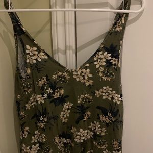 Green Floral Tank Top American Eagle